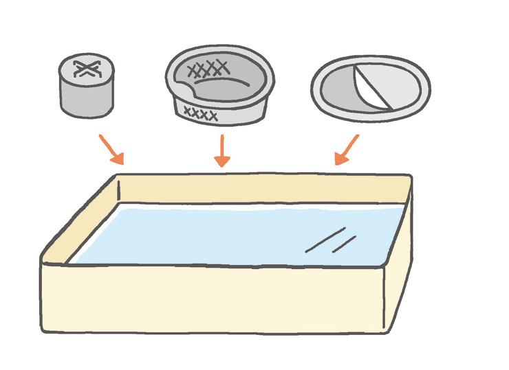 【排水口まわり】 重曹水溶液につけ置きしてピカピカに
