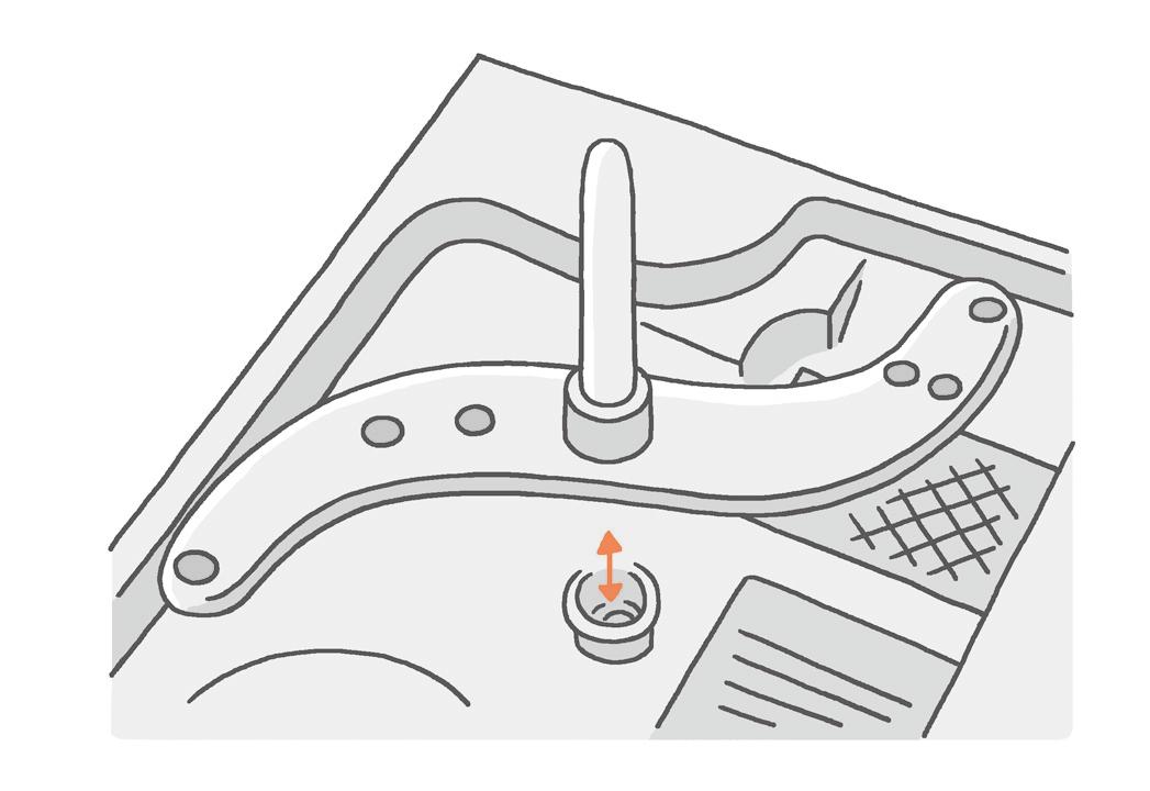 【食器洗浄機】 回転ノズルをはずして汚れを落とす