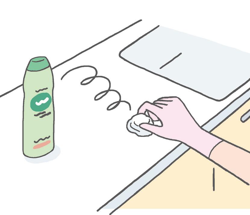 人造大理石カウンターの汚れにはクリームクレンザーを