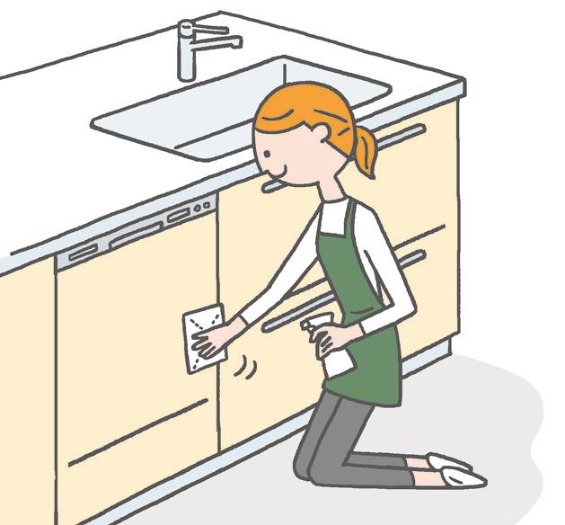 【キッチン収納】 こまめな拭き掃除で、汚れは軽いうちに除去