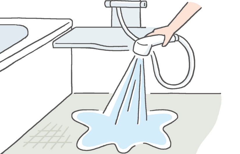使い終わったらサッと洗い流す習慣を