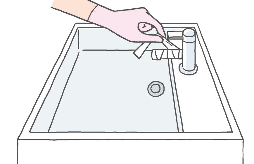 【水栓】 「湿布法」でこすらずに水あか掃除