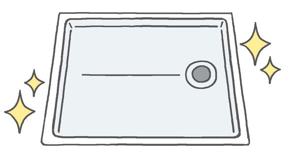 【洗面室】 洗濯機パンの内側も定期的にお掃除