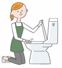 プラスチック部分は「トイレクイックル」などのトイレ用掃除シートでひと拭き