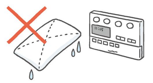 リモコンをお掃除する際は水分に気をつけて