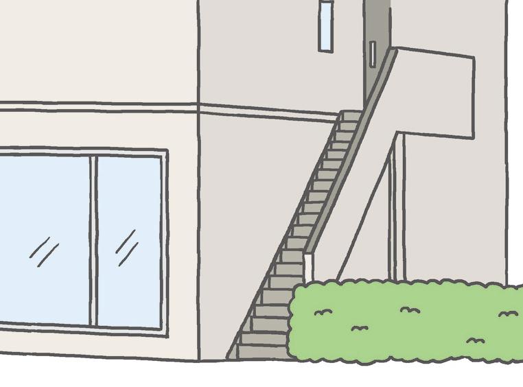 【外構】 屋外階段はほうきで汚れを掃き出しましょう