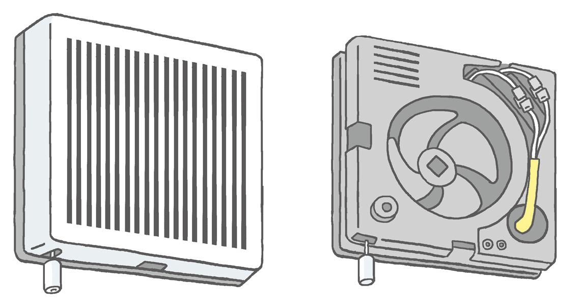 【換気扇】 トイレの換気扇は、年に1回チェック