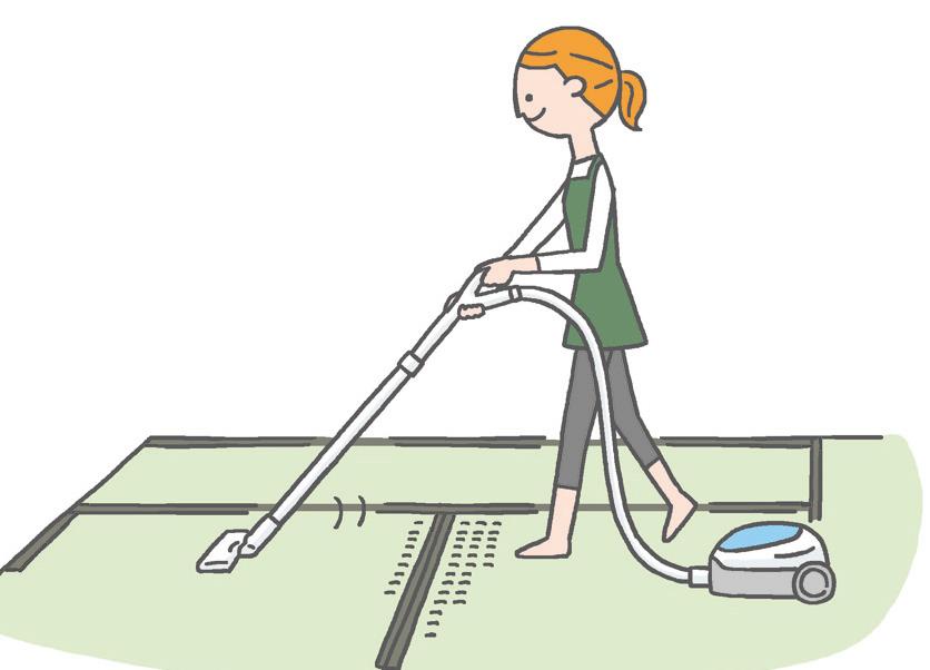 【畳】 掃除機と乾拭きでホコリを取り除く