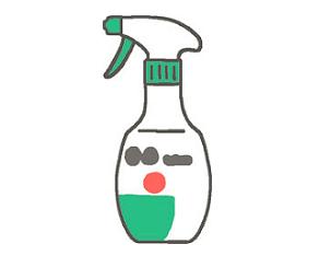 落ちにくい汚れには 「お酢ティンクル」などの弱酸性洗剤を使う