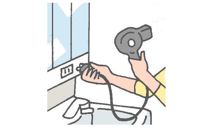 ■熱器具をコンセントから抜く